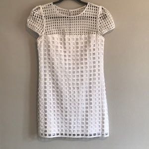 Milly White lattice dress